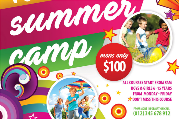 Summer Camp PSD Flyer Template