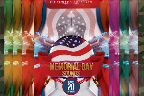 Summer Memorial Day Template