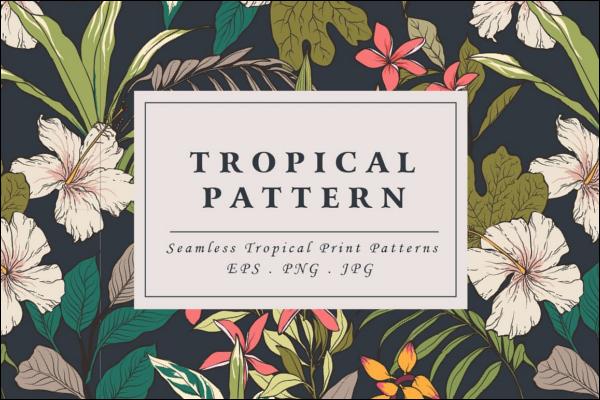 Summer Tropical flower pattern