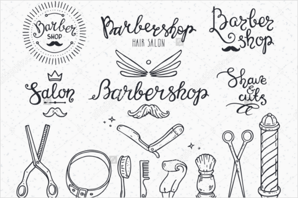 Symbols For Barber Shop Flyer Design