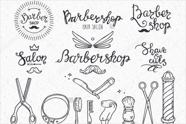 Symbols For Barber Shop Flyer Design