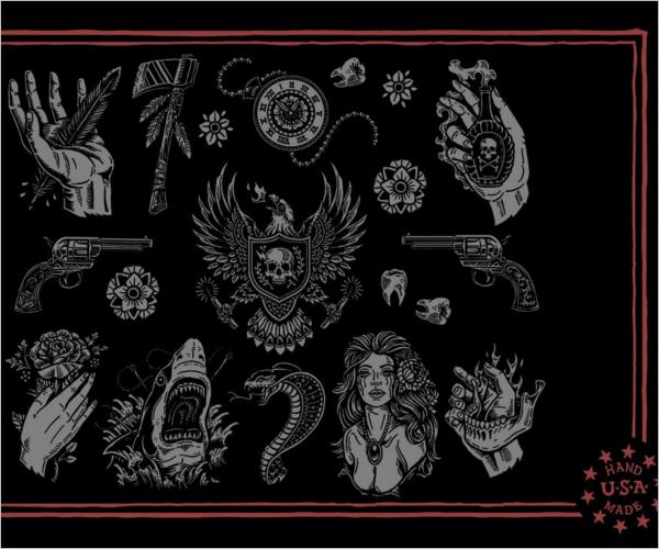 Tattoo Art Design Template