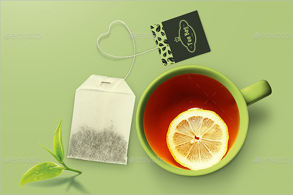 Tea Bag Design Mockup Template