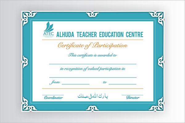Teacher Training Certificate Template