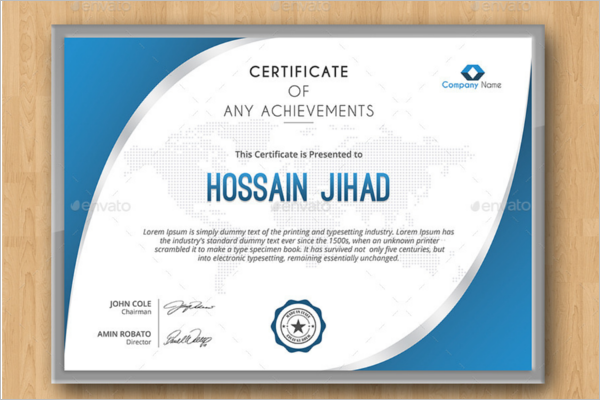 Technical Training Certificate Template