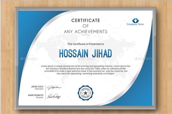 Technical Training Certificate Template