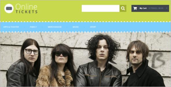 Tickets Website Magento Theme