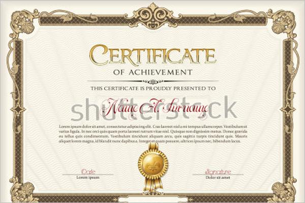 Training Certificate Format PDF