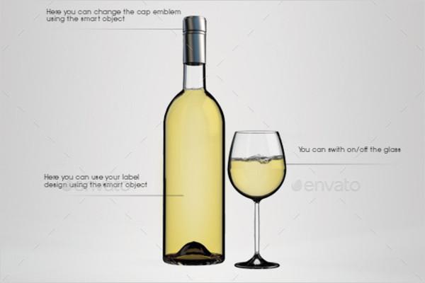 Transparent Bottle Mockup