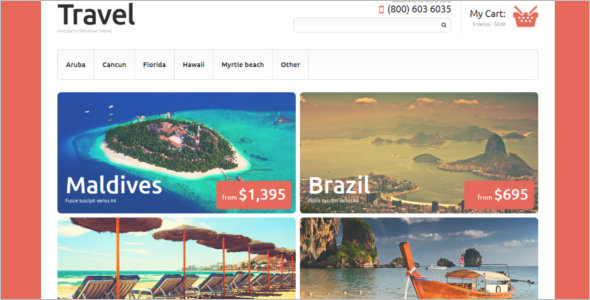 Travel Agency Magento Theme