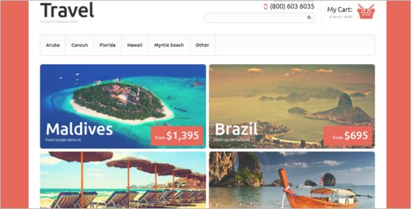Travel Agency Magento Theme