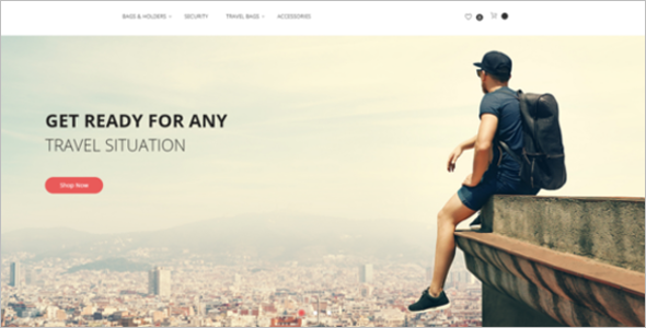 Travel Equipment Gear Magento Theme