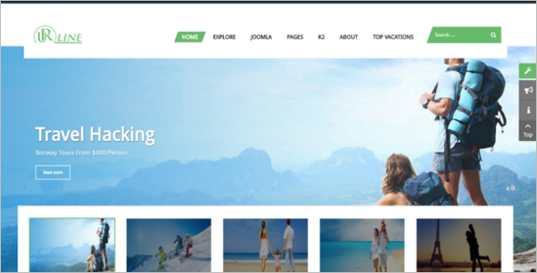 Travel News Joomla Template