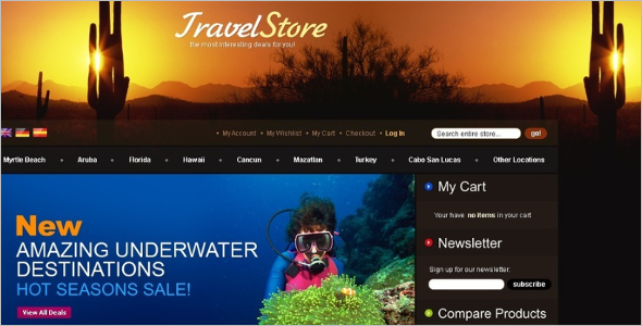 Travel Store Magento Theme