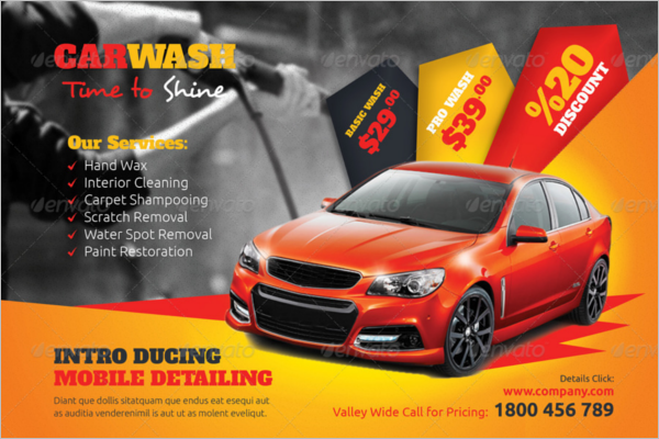 Trendy Car Wash Cleaning Flyer