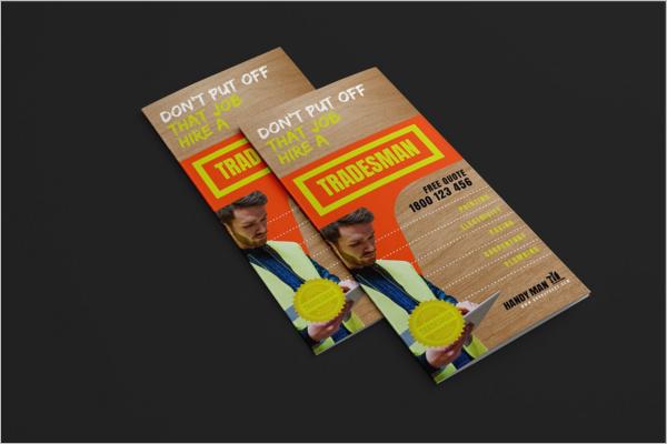 Handyman business cards templates free premium ideas creative trifold handyman business card reheart Choice Image