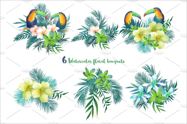 Tropical Summer Collection Pattern