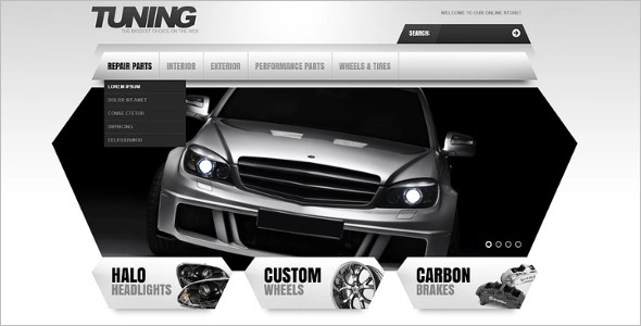 Tuning Store Magento Template