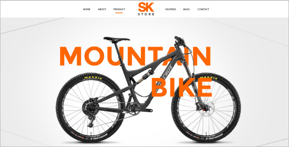 Unique Bike Shop PSD Template