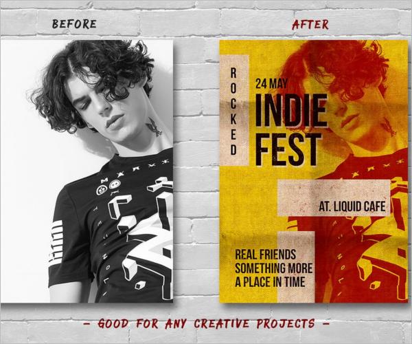Unique Poster Design PSD