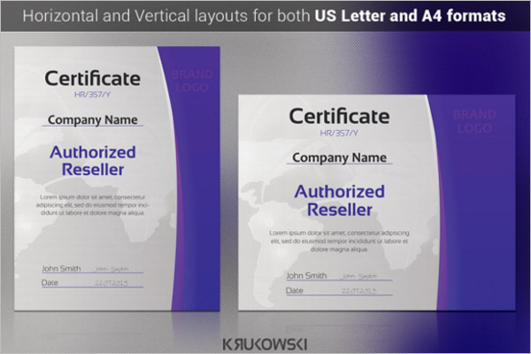 Universal CertificateTemplate