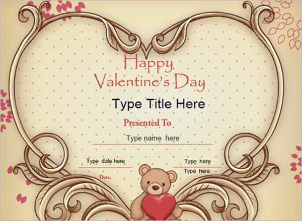 Valentine's Day Certificate PDF