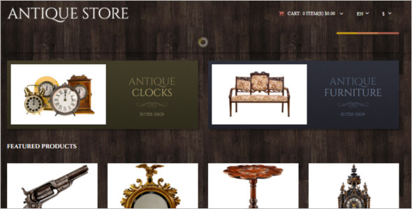 Vector Antique OpenCart Template