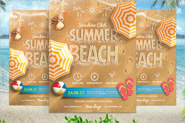 Vector Beach Flyer Template