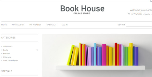 Vector Bookstore Magento Template