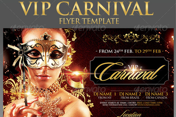 Vector Carnival Flyer Template