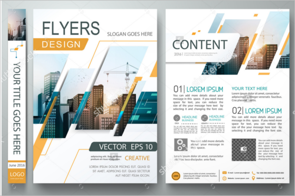 Vector Design Advertising Flyer Template