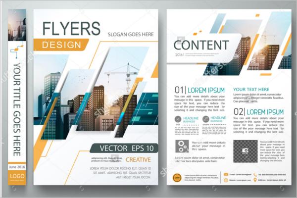 Vector Design Advertising Flyer Template