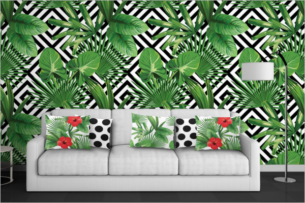 Vector Palm Leaves Pattern