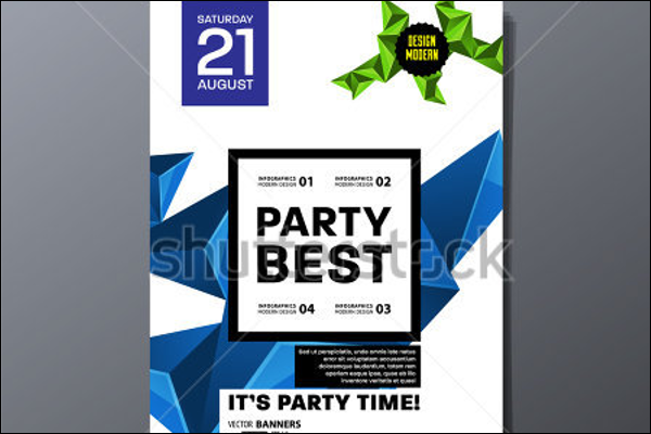 Vector Party Poster Design