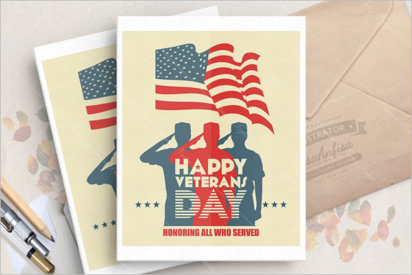 Veterans day Greeting Card Design