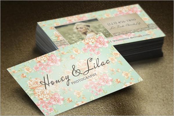 Vintage Floral Business Card PSD