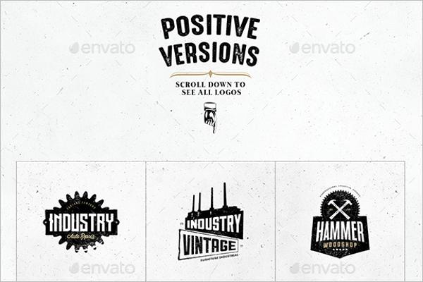 Vintage Industrial Photoshop Logo Design