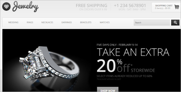 Vintage Jewelry OpenCart Template