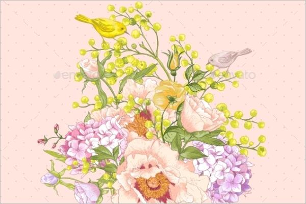 Vintage Mimosa Pattern
