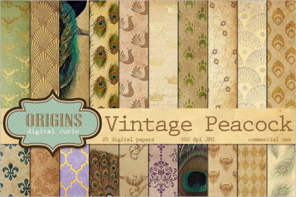 Vintage Peacock Patterns