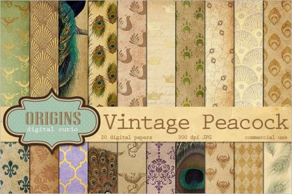 Vintage Peacock Patterns