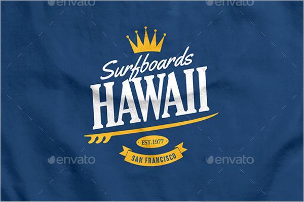 Vintage Summer Photoshop Logos Design