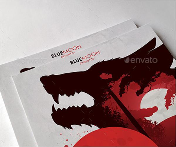 Warewolf Halloween Poster Design