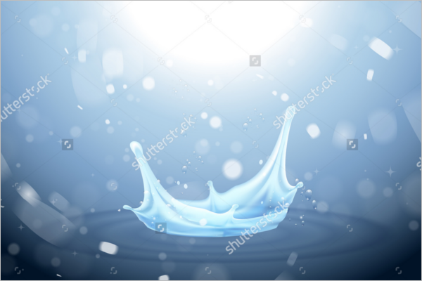 Water Drop Vector Background