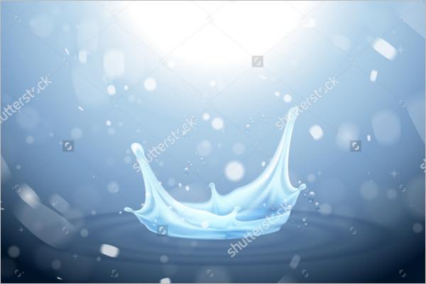 Water Drop Vector Background