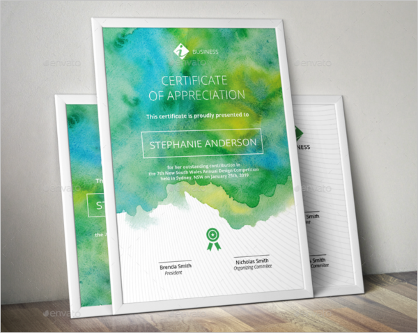 Watercolor Certificate Template