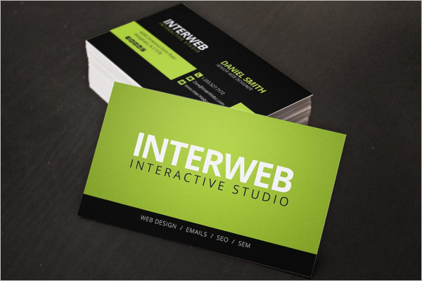 Small Business Card Templates Free Premium Creative Template - Web design business cards templates