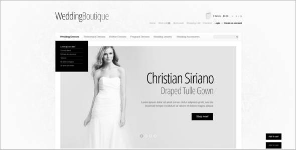 Wedding Boutique OpenCart Template