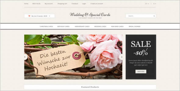 Wedding Cards Shopping Opencard Theme