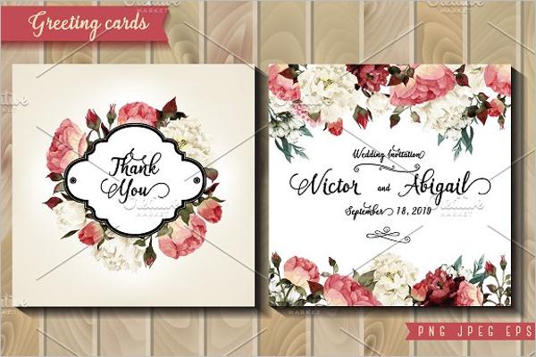 Wedding Invitation Greeting Card PSD